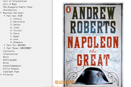 【配音频】Napoleon the Great by Andrew Roberts(mobi,epub,pdf)