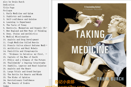 【电子书】Taking the Medicine: A Short History of Medicine's Beautiful Idea, and our Difficulty Swallowing It by Druin Burch(mobi,epub,pdf)