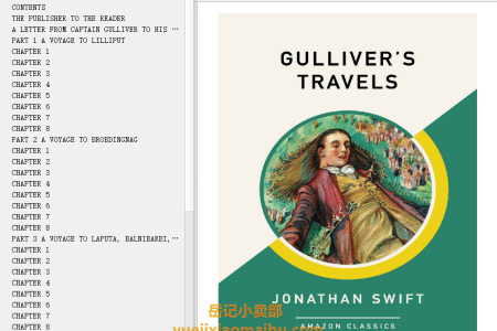 【配音频】Gulliver's Travels by Jonathan Swift(mobi,epub,pdf)