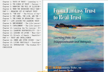 【电子书】From Fantasy Trust to Real Trust: Learning from Our Disappointments and Betrayals by Krishnananda Trobe(mobi,epub,pdf)