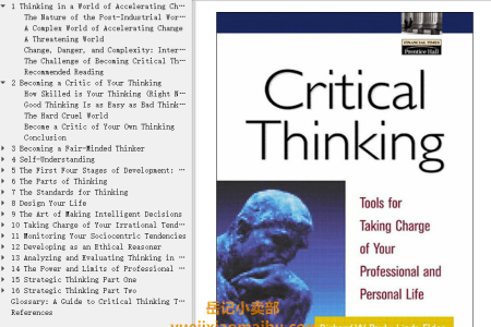 【电子书】Critical Thinking: Tools for Taking Charge of Your Professional and Personal Life by Richard Paul, Linda Elder(mobi,epub,pdf)