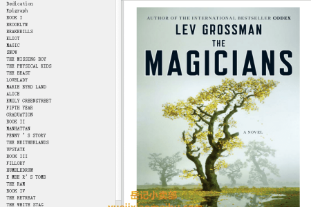 【配音频】The Magicians (The Magicians #1) by Lev Grossman(mobi,epub,pdf)