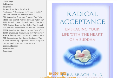 【配音频】Radical Acceptance: Embracing Your Life With the Heart of a Buddha by Tara Brach , Jack Kornfield(mobi,epub,pdf)