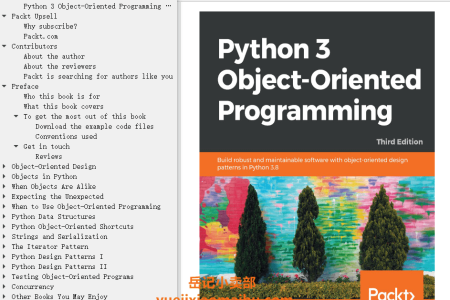 【电子书】Python 3 Object-Oriented Programming 3rd Edition: Build robust and maintainable software with object-oriented design patterns in Python 3.8 by Dusty Phillips(mobi,epub,pdf)