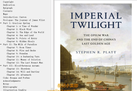 【配音频】Imperial Twilight: The Opium War and the End of China's Last Golden Age by Stephen R. Platt(mobi,epub,pdf)