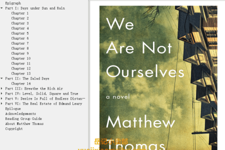 【配音频】We Are Not Ourselves by Matthew Thomas(mobi,epub,pdf)