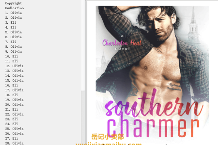 【配音频】Southern Charmer (Charleston Heat #1) by Jessica Peterson(mobi,epub,pdf)