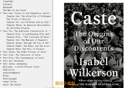 【配音频】Caste: The Origins of Our Discontents by Isabel Wilkerson(mobi,epub,pdf)