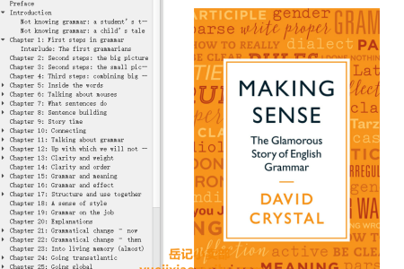 【配音频】Making Sense: The Glamorous Story of English Grammar by David Crystal(mobi,epub,pdf)