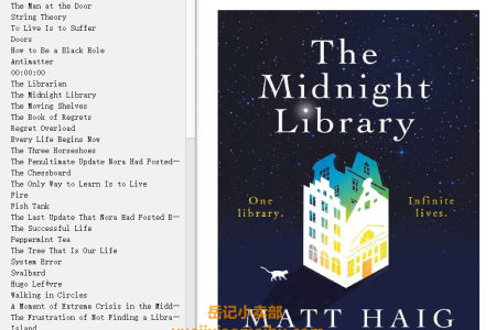 【配音频】The Midnight Library by Matt Haig(mobi,epub,pdf)