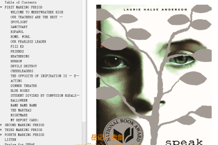 【配音频】Speak by Laurie Halse Anderson(mobi,epub,pdf)