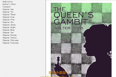 【配音频】The Queen's Gambit by Walter Tevis(mobi,epub,pdf)