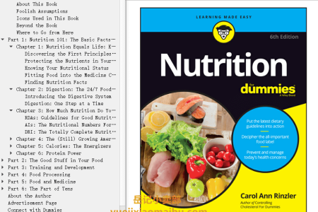 【配音频】Nutrition For Dummies 6th Edition by Carol Ann Rinzler(mobi,epub,pdf)