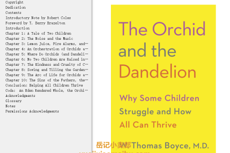 【配音频】The Orchid and the Dandelion: Why Some Children Struggle and How All Can Thrive by W. Thomas Boyce(mobi,epub,pdf)