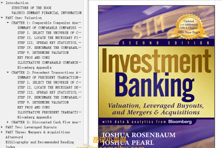 【电子书】Investment Banking 2nd Edition: Valuation, Leveraged Buyouts, and Mergers & Acquisitions by Joshua Rosenbaum, Joshua Pearl(mobi,epub,pdf)