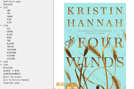 【配音频】The Four Winds by Kristin Hannah(mobi,epub,pdf)