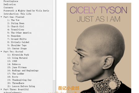 【配音频】Just as I Am by Cicely Tyson(mobi,epub,pdf)