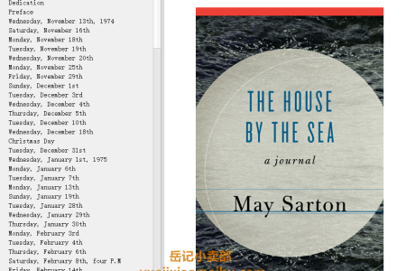 【电子书】The House by the Sea by May Sarton(mobi,epub,pdf)