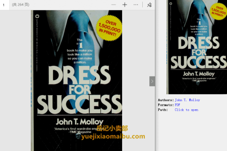 【电子书】Dress for Success by John T. Molloy(pdf)