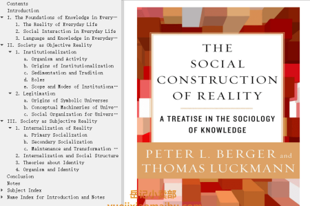 【配音频】The Social Construction of Reality: A Treatise in the Sociology of Knowledge by Peter L. Berger, Thomas Luckmann(mobi,epub,pdf)