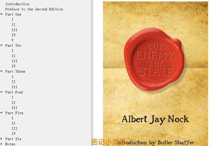 【电子书】Our Enemy, the State by Albert Jay Nock(mobi,epub,pdf)