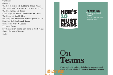 "【配音频】HBR's 10 Must Reads on Teams (with featured article ""The Discipline of Teams,"" by Jon R. Katzenbach and Douglas K. Smith) by Harvard Business Review(mobi,epub,pdf)"