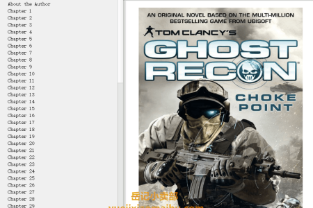 【电子书】Choke Point (Tom Clancy's Ghost Recon #3) by Peter Telep , Tom Clancy(mobi,epub,pdf)