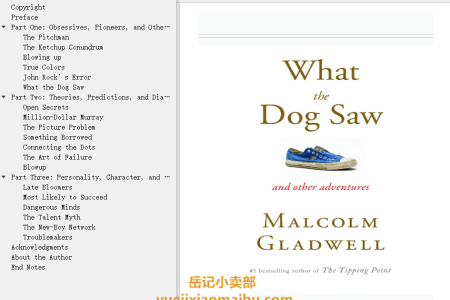 【配音频】What the Dog Saw: And Other Adventures by Malcolm Gladwell(mobi,epub,pdf)