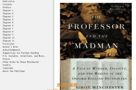 【配音频】The Professor and the Madman: A Tale of Murder, Insanity and the Making of the Oxford English Dictionary by Simon Winchester(mobi,epub,pdf)