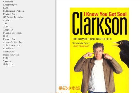 【电子书】I Know You Got Soul: Machines With That Certain Something by Jeremy Clarkson(mobi,epub,pdf)