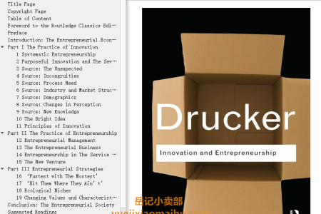 【配音频】Innovation and Entrepreneurship: Practice and Principles by Peter F. Drucker(mobi,epub,pdf)