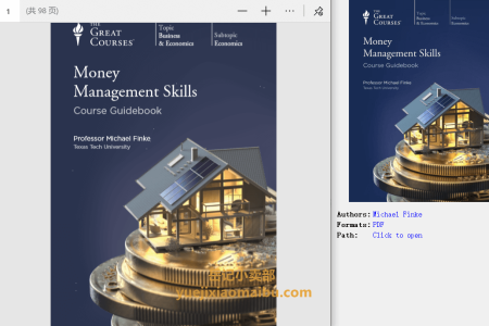 【配音频】Money Management Skills by Michael Finke(pdf)
