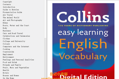 【电子书】Easy Learning English Vocabulary (Collins Easy Learning English) by Harper CollinsPublishers(mobi,epub,pdf)