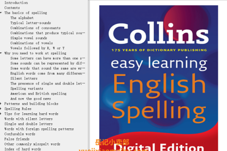 【电子书】Easy Learning English Spelling (Collins Easy Learning English) by Collins(mobi,epub,pdf)