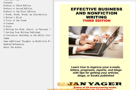 【配音频】Effective Business and Nonfiction Writing by Jan Yager(mobi,epub,pdf)