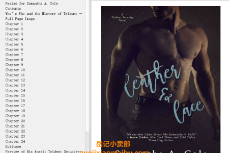 【配音频】Leather & Lace (Trident Security #1) by Samantha A. Cole(mobi,epub,pdf)