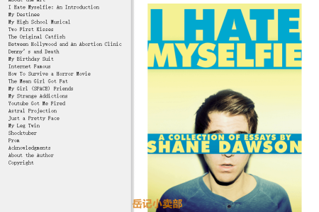 【配音频】I Hate Myselfie: A Collection of Essays by Shane Dawson(mobi,epub,pdf)