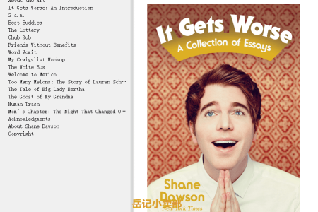 【电子书】It Gets Worse: A Collection of Essays by Shane Dawson(mobi,epub,pdf)
