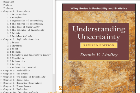 【电子书】Understanding Uncertainty Revised Edition by Dennis V. Lindley(mobi,epub,pdf)