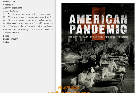 【配音频】American Pandemic: The Lost Worlds of the 1918 Influenza Epidemic by Nancy K. Bristow(mobi,epub,pdf)