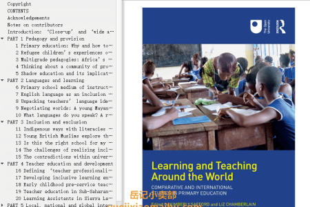 【电子书】Learning and Teaching Around the World: Comparative and International Studies in Primary Education by Kimberly Safford , Liz Chamberlain(mobi,epub,pdf)